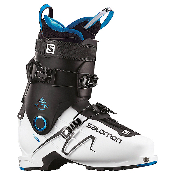 Salomon MTN Explore Alpine Touring Boots, White-Black-Transparent Dark B, 600