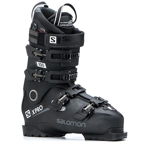 Salomon X-Pro 100 CHC Ski Boots, Black-Metallic Black-White, 600