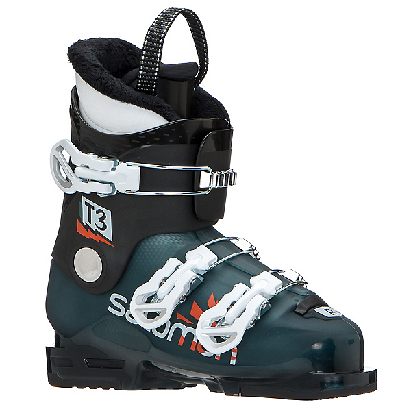 Salomon T3 RT Kids Ski Boots, Maroccan Blue-Black-White, 600