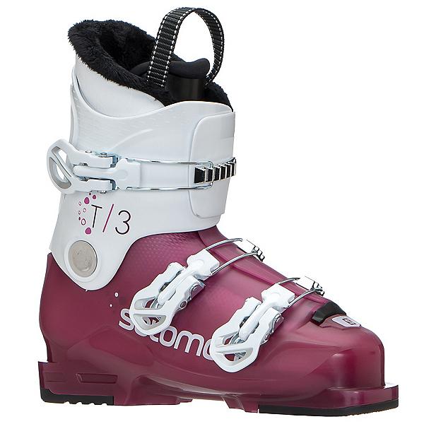 Salomon T3 RT Girly Girls Ski Boots 2020, Rose Violet Tranlucent-White, 600