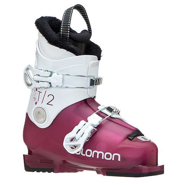Salomon T2 RT Girly Girls Ski Boots, Rose Violet Translucent-White, 600