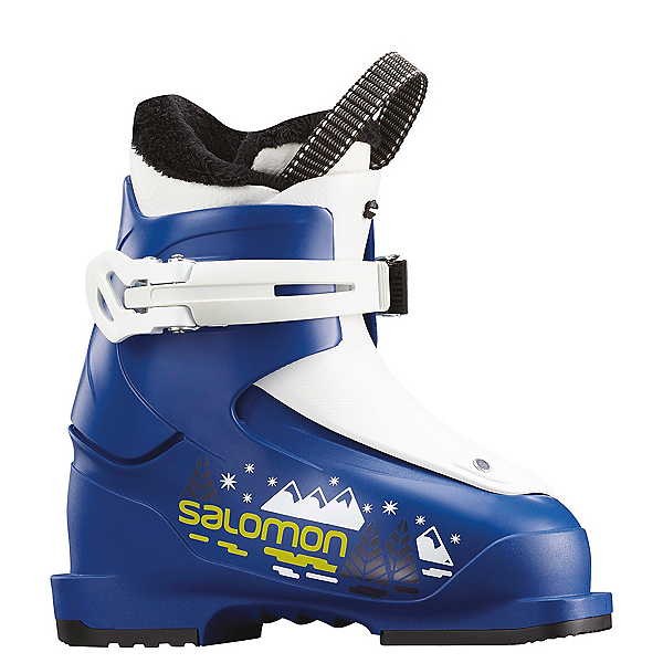 Salomon T1 Kids Ski Boots, Race Blue-White, 600