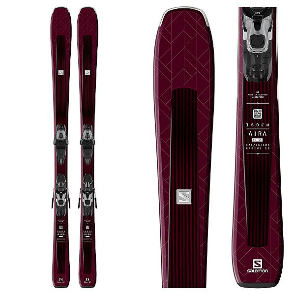 Salomon Aira 76 ST Womens Skis with Lithium 10 Bindings, , 600