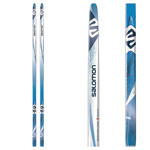 Salomon Snowscape 7 Siam Womens Cross Country Skis with Bindings, , 600