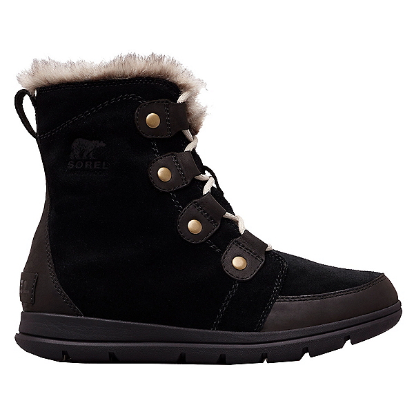 Sorel Explorer Joan Womens Boots, Black-Dark Stone, 600