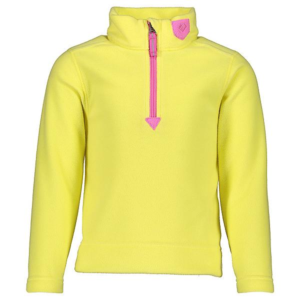 Obermeyer Ultra Gear Zip Girls Long Underwear Top, Lemon Whip, 600