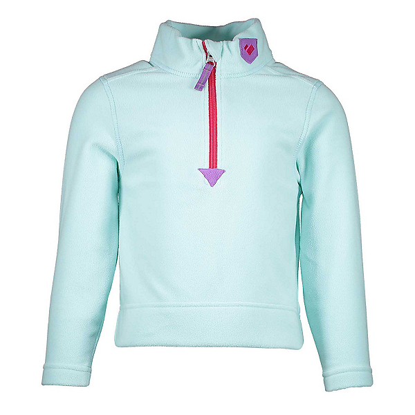 Obermeyer Ultra Gear Zip Girls Long Underwear Top, Sea Glass, 600