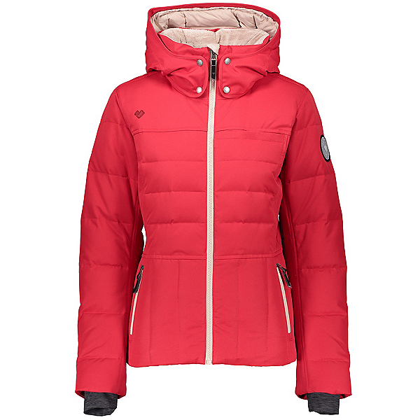 Obermeyer Joule Down Womens Insulated Ski Jacket, Red Bravado, 600