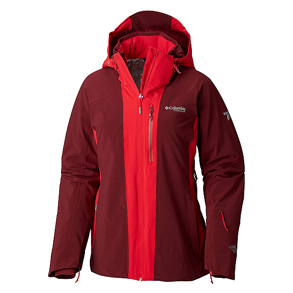 Columbia Snow Rival Womens Insulated Ski Jacket 2019, Rich Wine Red Mercury, 600