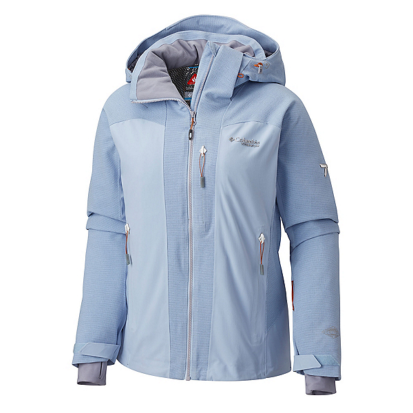 Columbia Powder Keg II Womens Insulated Ski Jacket, Faded Sky, 600