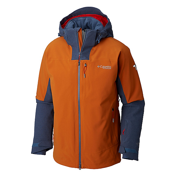 eb15326a629 Columbia Powder Keg II Mens Insulated Ski Jacket, Bright Copper Dark  Mountain, 600