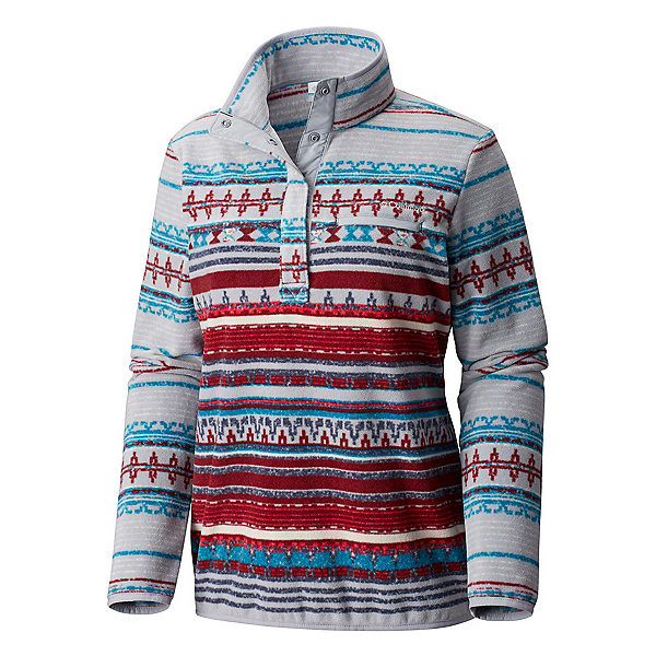 Columbia Mountain Side Printed Pullover Womens Jacket, Lagoon, 600