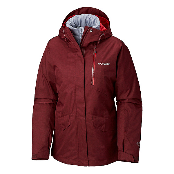Columbia Emerald Lake Interchange Womens Insulated Ski Jacket, Rich Wine Red Mercury, 600
