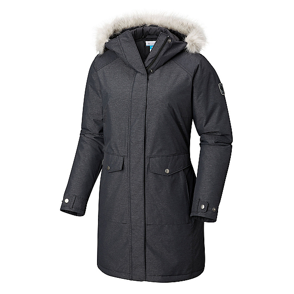 Columbia Breitenbush Parka w/Faux Fur Womens Jacket, Black, 600
