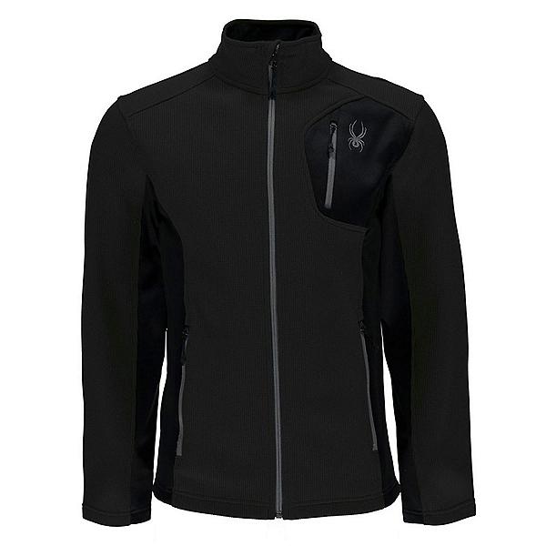 Spyder Bandit Full Zip Stryke Jacket Mens Sweater, Black-Black-Black, 600