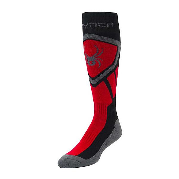 Spyder Dare Ski Socks, Black-Red-Polar, 600