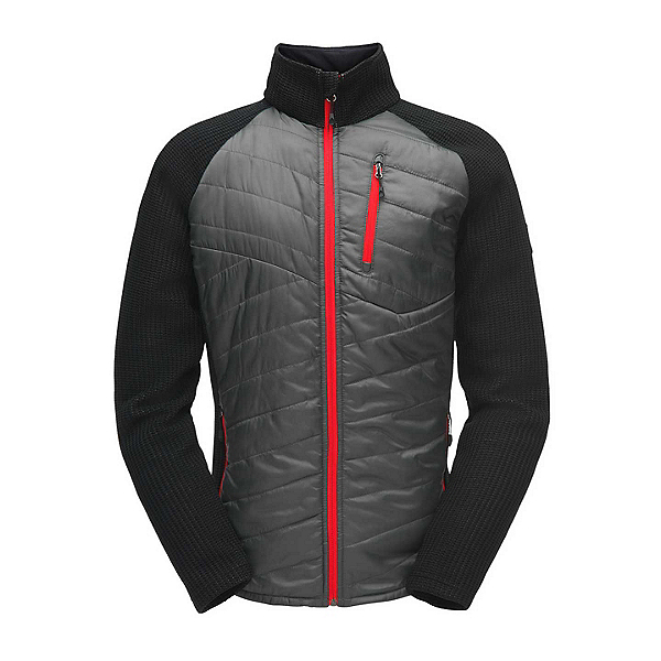 Spyder Ouzo Full Zip Stryke Mens Jacket 2019, Polar-Black-Red, 600