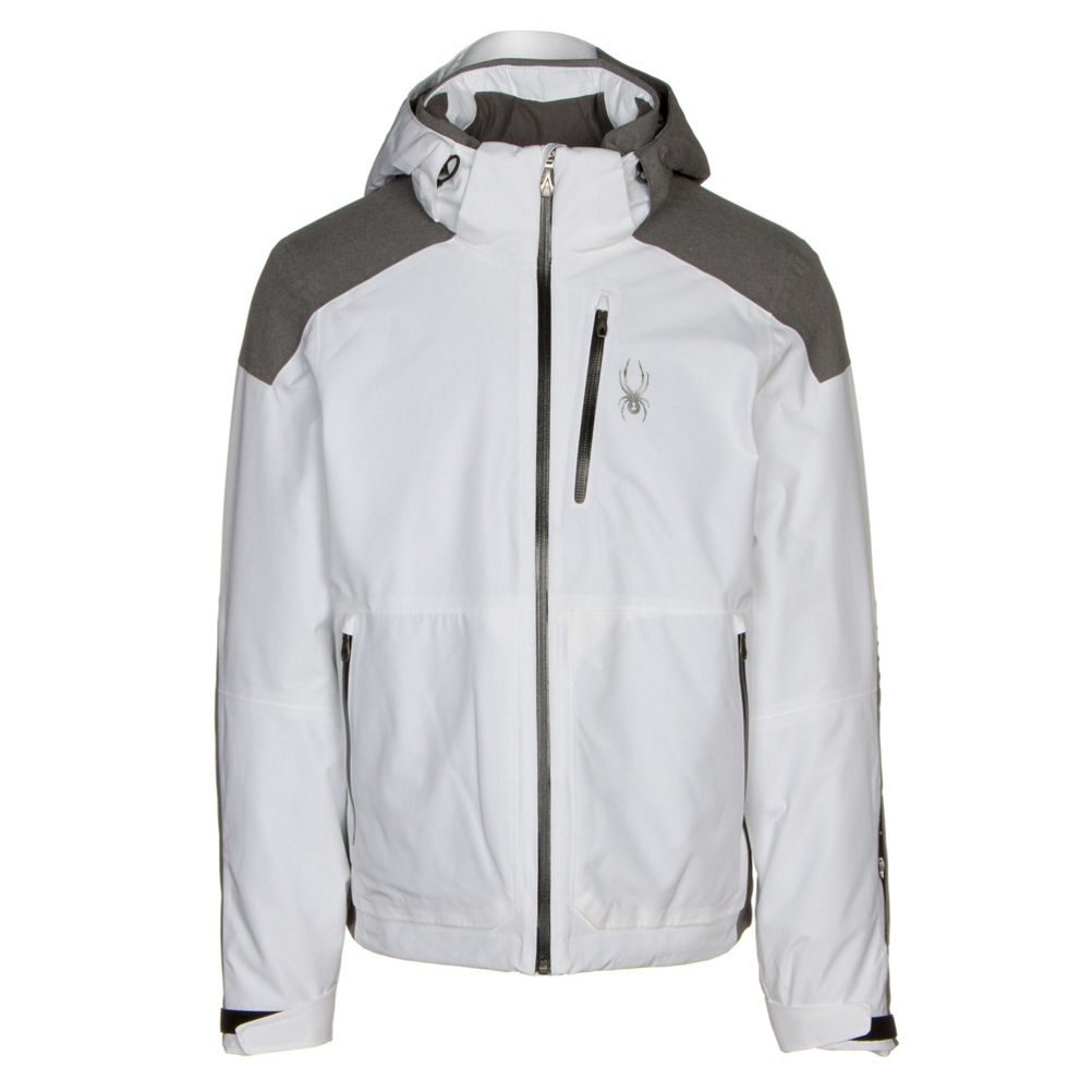Shop for White Spyder Men s Skiing Jackets at Skis.com  4d6a3cd6e