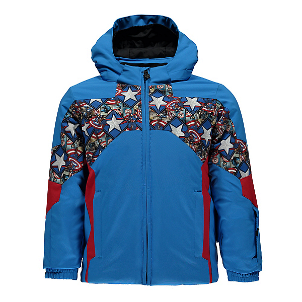 Spyder Mini Marvel Ambush Toddler Ski Jacket, French Blue-Captain America, 600