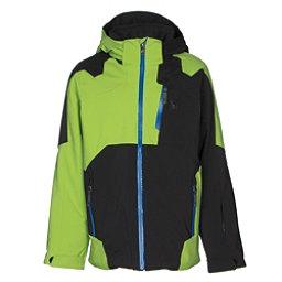88407ffa1 Spyder Speed Boys Ski Jacket, Black-Fresh-Turkish Sea, 256