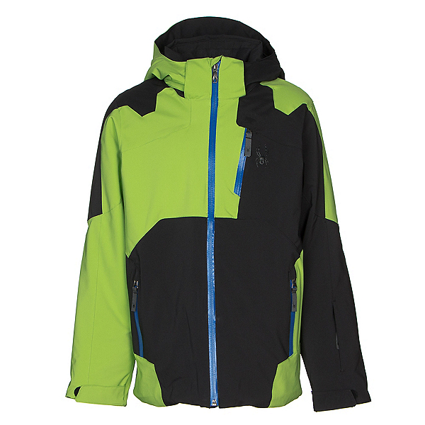 Spyder Speed Boys Ski Jacket, Black-Fresh-Turkish Sea, 600