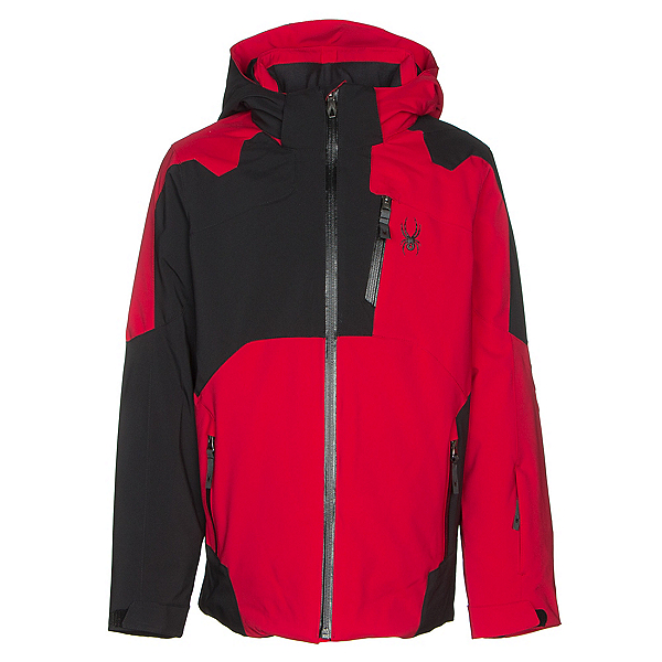 Spyder Speed Boys Ski Jacket, Red-Black-Black, 600