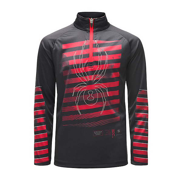 Spyder Limitless Perfector Kids Midlayer, Black-Red-Red, 600