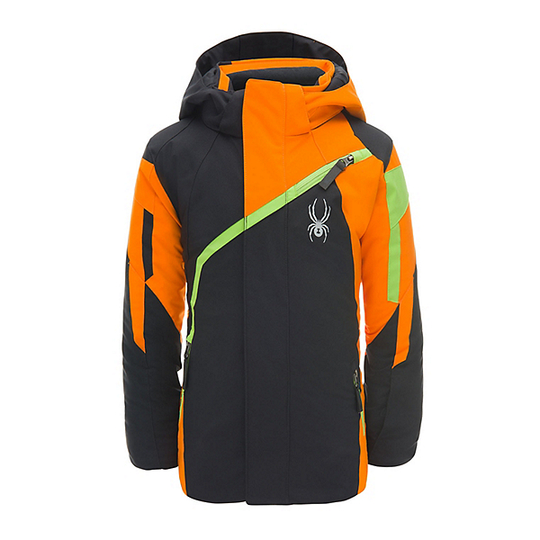 2e38edc7d Spyder Mini Challenger Toddler Ski Jacket, Black-Exuberance-Fresh, 600