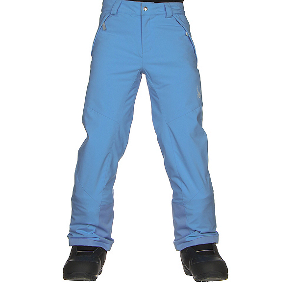 Spyder Olympia Girls Ski Pants, Blue Ice-Blue Ice, 600