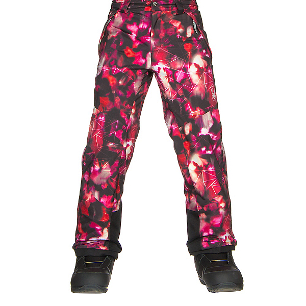 Spyder Olympia Girls Ski Pants, Daybreaker Print-Black, 600