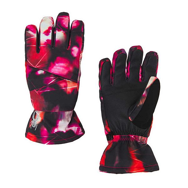 Spyder Astrid Girls Gloves, Daybreaker Print-Black, 600