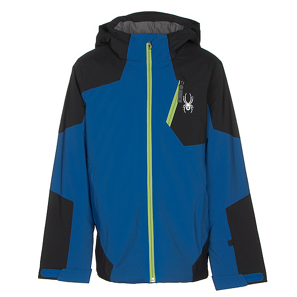Spyder Chambers Boys Ski Jacket, Turkish Sea-Black-Fresh, 600