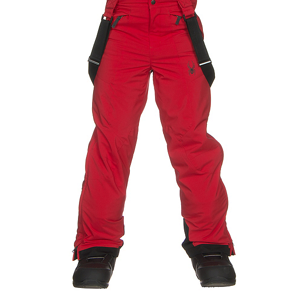 Spyder Guard Kids Ski Pants, Red-Black, 600
