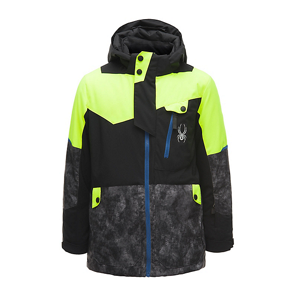 Spyder Tordrillo Boys Ski Jacket, Black-Cloudy Tonal Distress Pr, 600