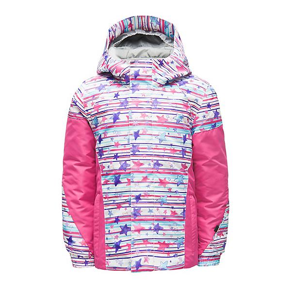 Spyder Bitsy Charm Toddler Girls Ski Jacket, Star Stripe Multi Print-Taffy, 600