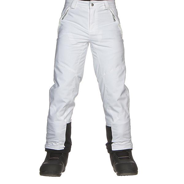 Spyder Olympia Tailored Girls Ski Pants, White-Black, 600