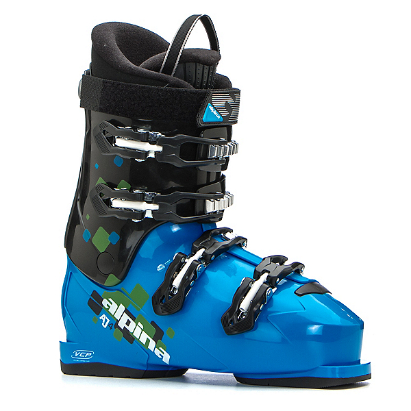 Alpina AJ4 Max Kids Ski Boots, Blue-Black, 600
