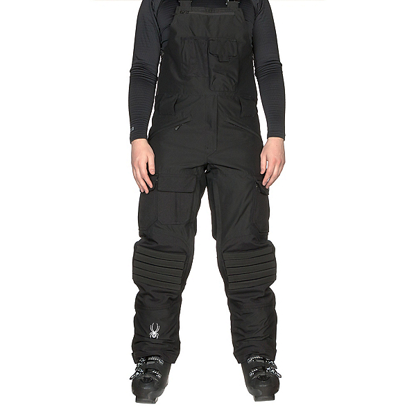 Spyder Coachs Bib Mens Ski Pants, Black-Black, 600
