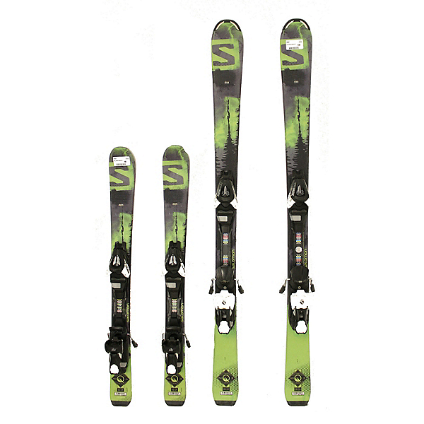 Used 2016 Salomon Q Max Jr Skis + Bindings Kids to Youth Size Choice A Condition, , 600