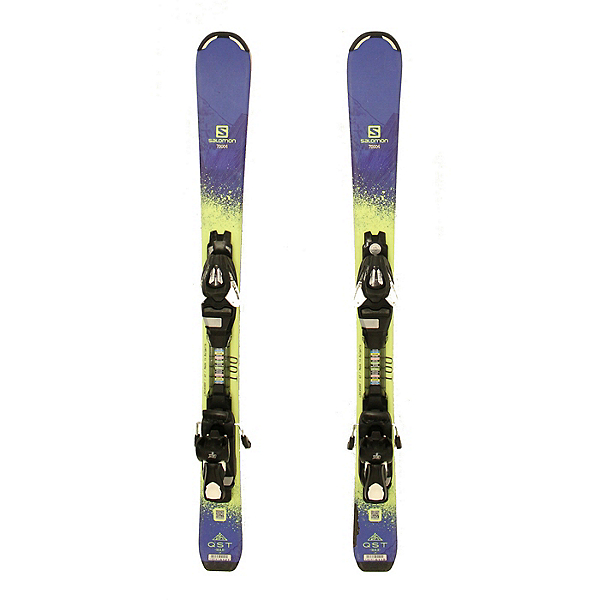 Used 2017 Salomon QST Max Jr Kids Youth Skis ETK 7 Bindings C Condition, , 600