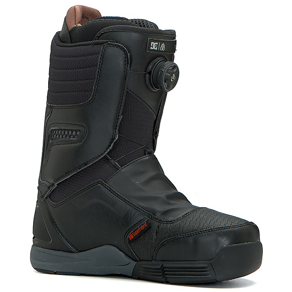 DC Travis Rice Boa Snowboard Boots, Black-Red, 600