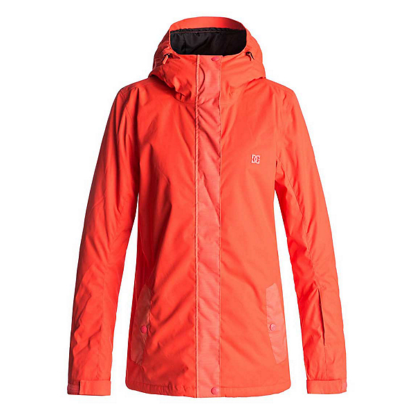 DC Perimeter Womens Insulated Snowboard Jacket, Fiery Coral, 600