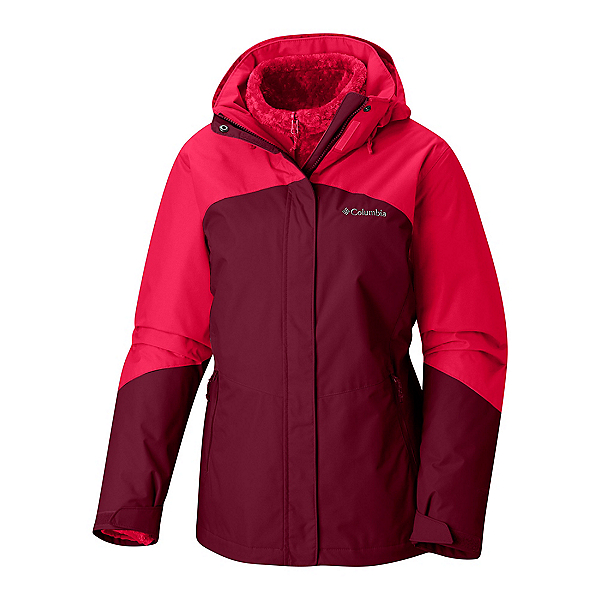 Columbia Bugaboo II Interchange Plus Womens Insulated Ski Jacket, Rich Wine Red Mercury, 600