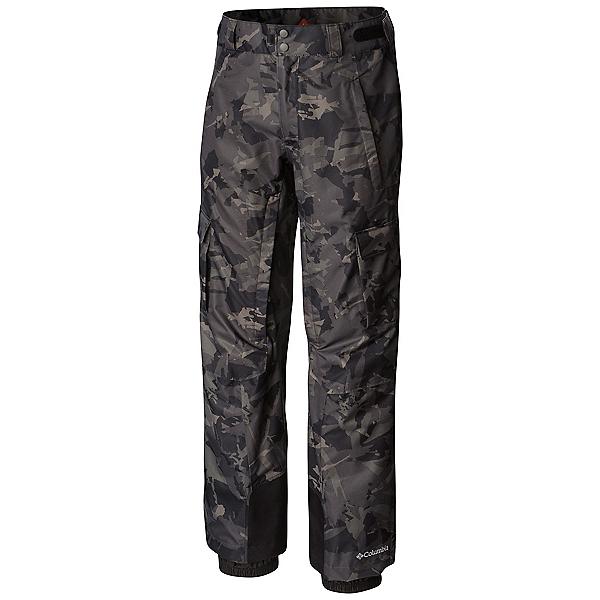 Columbia Ridge 2 Run II - Short Mens Ski Pants, Black Camo Lines Print, 600