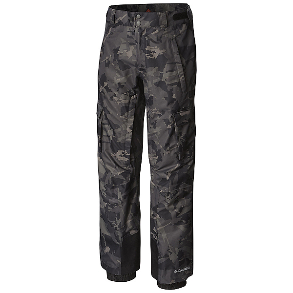Columbia Ridge 2 Run II - Tall Mens Ski Pants, Black Camo Lines Print, 600