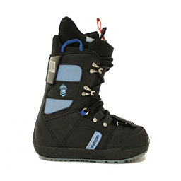 Used Girls Youth Size Burton Progression Snowboard Boots Black Sky Blue, , 256