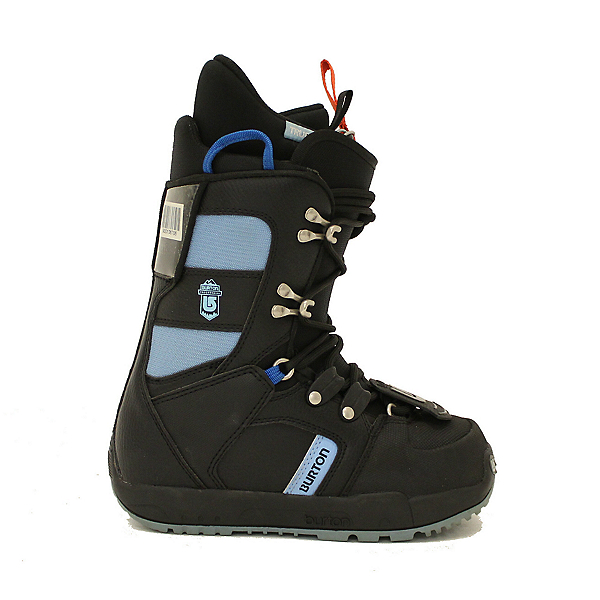 Used Girls Youth Size Burton Progression Snowboard Boots Black Sky Blue, , 600