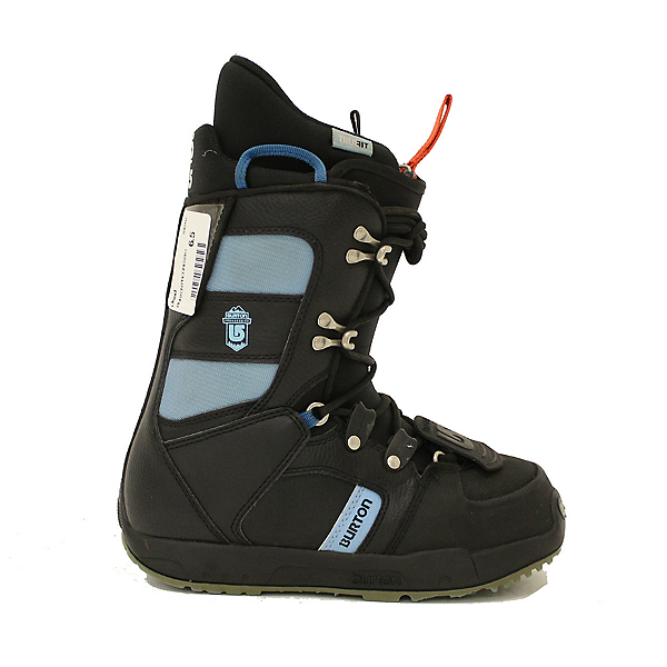Used Womens Burton Progression Snowboard Boots Black Sky Blue, , 600
