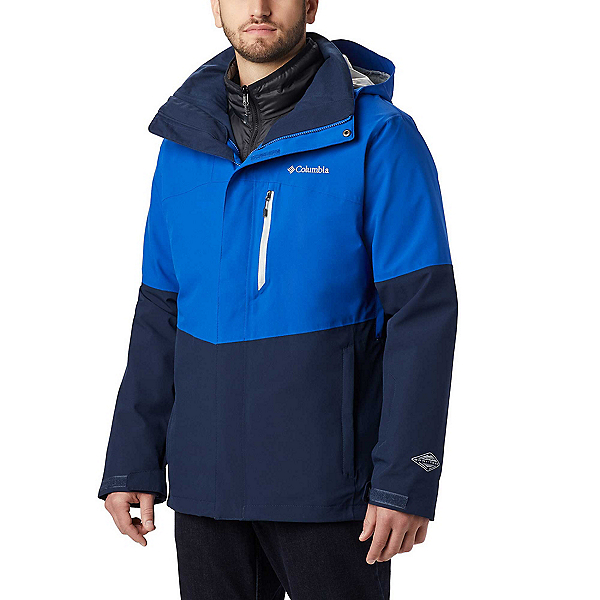 Columbia Wild Card Interchange Mens Insulated Ski Jacket, Azul-Collegiate Navy, 600