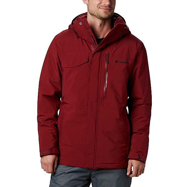 Columbia Cushman Crest Mens Insulated Ski Jacket, Red Jasper, 600